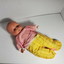 "RARE Vintage 14"" UNEEDA Doll Cloth Body Sleep Eyes Vinyl or Rubber Head OA1B10 - $29.02"