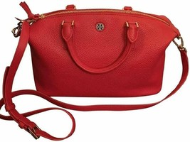 Tory Burch 52909 Liberty Red Brody Small Slouchy Leather Satchel - $589.18