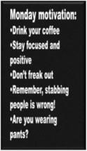 Monday Motivation Humor Refrigerator Magnet - $1.99+