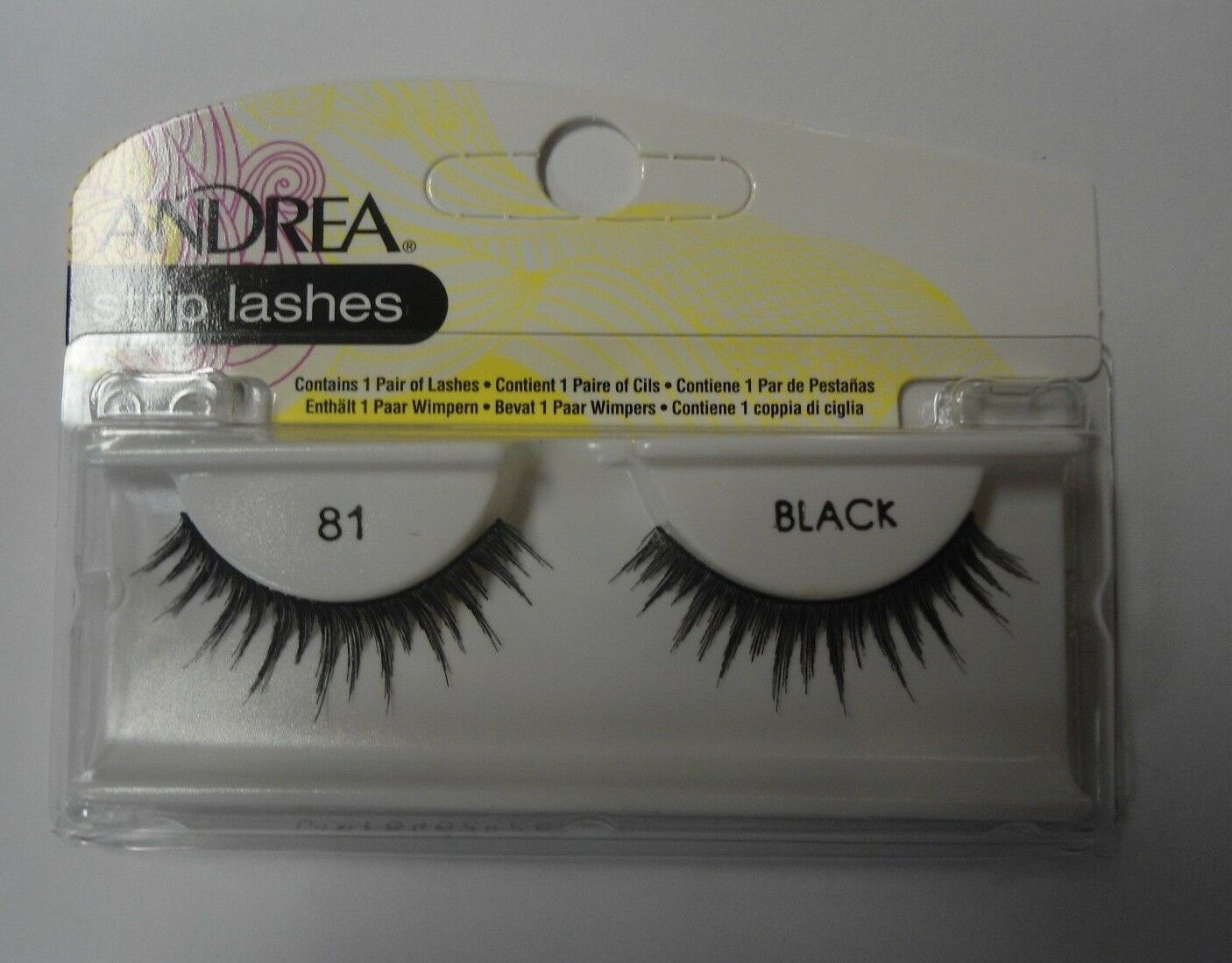 Primary image for Andrea's Strip Lashes Fashion Eye Lash Style 81 Black - (Pack of 6)