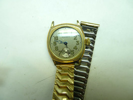Waltham 1925 CUSHION BLUE HANDS WATCH FOR RESTORATION OR TRENCH PARTS NO... - $170.04