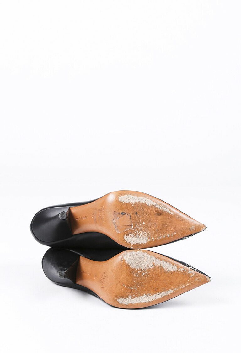 Celine Leather Pointed Zip Booties SZ 36 image 4