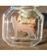 Intaglio.  Vintage Heinrich Hoffman Open Salt Cellar.  German Shepherd D... - $27.00