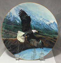 """EAGLE SOARING OVER SNOW MOUNTAINS  1991 DECORATIVE PORCELAIN 8.5"""" FIRST ... - $7.38"""