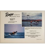 1976 Print Ad Ranger Bass Boats Wood Manufacturing Co. Flippin,Arkansas - $11.14