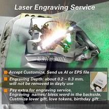 Men Huge 316L Stainless Steel Deep Laser Engraved Pirate Skulls Charm Bracelet image 6