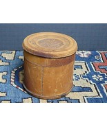 Antique H.M.R. & Co. Embossed Leather Hand Made Leather Collar Box 1900's - $28.03
