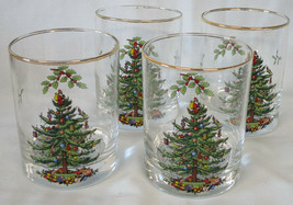 Spode Christmas Tree Double Old Fashioned Set of 4, Used - $32.56