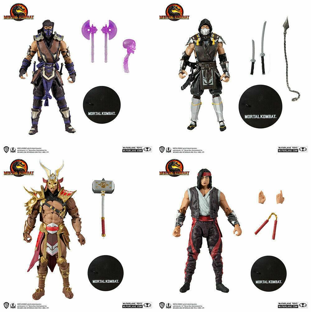 "7"" Mortal Kombat 11 Figure Wave 5 Set of 4 Liu Khan Shao Kang Scorpion Sub Zero - $158.37"