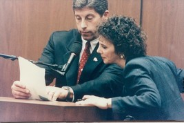 Vintage photo of Mark Fuhrman and Marcia Clark under O.J. Simpson's trial  - $18.41