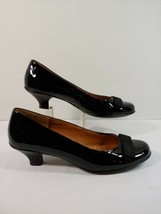 Sofft Black Patent Leather Ribbon Bow Mirella Pump Shoes Heels Size 9 Us - $39.59