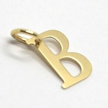 18K YELLOW GOLD PENDANT CHARM INITIAL MINI LETTER B, MADE IN ITALY, 0.55 INCHES image 2