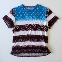 American Rag Cie Men's T-Shirt XX Large Blue White Burgundy/Brown - $14.45