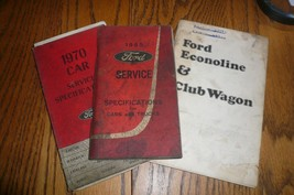 1965 1970 Ford Service Specifications 73 Econoline Owner's Manual Lot of... - $12.59