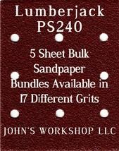 Lumberjack PS240 - 1/4 Sheet - 17 Grits - No-Slip - 5 Sandpaper Bulk Bun... - $7.14