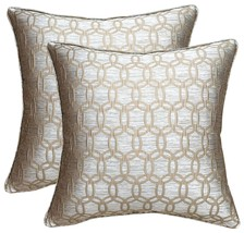 downluxe Square Decorative Feather and Down Throw Pillows,20x20 Inches,P... - $1.397,70 MXN