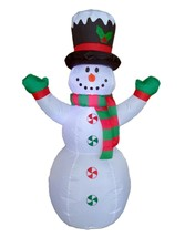4 Foot Christmas Inflatable Snowman with Hat and Scarf Yard Outdoor Deco... - $45.00