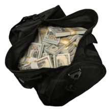 $500,000 - $100 Full Print Fake Bills Duffle Bag Poker Game Prank Music ... - $749.99