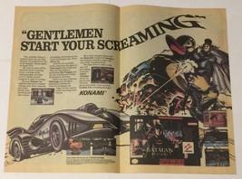 Super Nintendo Batman Returns Double Page Ad Advertisement - $6.89