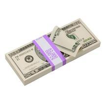 PROP MOVIE MONEY - 2000 Series $20 Full Print Prop Money Stack - $14.00