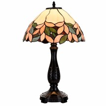 Tiffany Style Table Lamp Victorian Stained Glass Desk Lamp Floral Home D... - $79.99