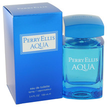 Perry Ellis Aqua by Perry Ellis Eau De Toilette Spray 3.4 oz - $31.95