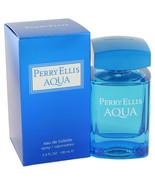 Perry Ellis Aqua by Perry Ellis Eau De Toilette Spray 3.4 oz - $31.95
