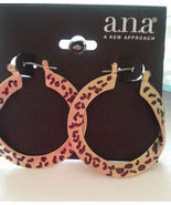 Animal Print Gold Hoop Fashion Earrings - $4.50
