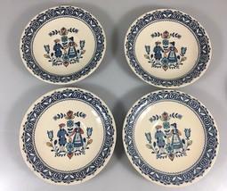Johnson Bros Old Granite Hearts Flowers Set 4 Bread Butter Plates Staffo... - $24.99