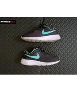 NIKE Tanjun Girls 4Y Kids Youth Grey Teal Green Running Sneakers Shoes ... - $29.69
