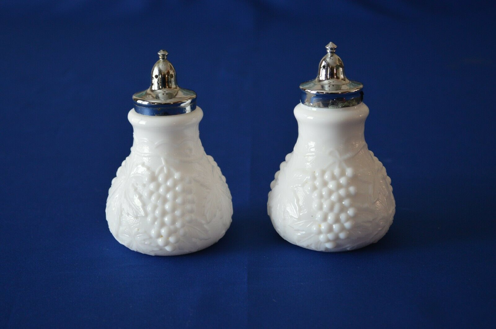 Primary image for Imperial Glass Milk Glass Grape Salt & Pepper Shakers
