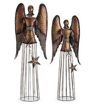 Napco Angel Star Bronze Tone 37 inch Metal Outdoor Statues Set of 2 - $130.42