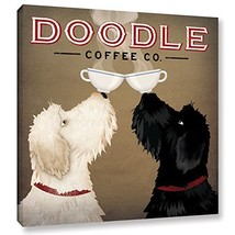 ArtWall Ryan Fowler's Doodle Coffee Double IV Gallery Wrapped Canvas, 24... - $77.51