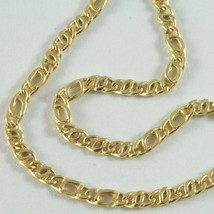 18K YELLOW GOLD CHAIN, ALTERNATE FLAT EYE LINK, NECKLACE MADE IN ITALY, ... - $396.00+