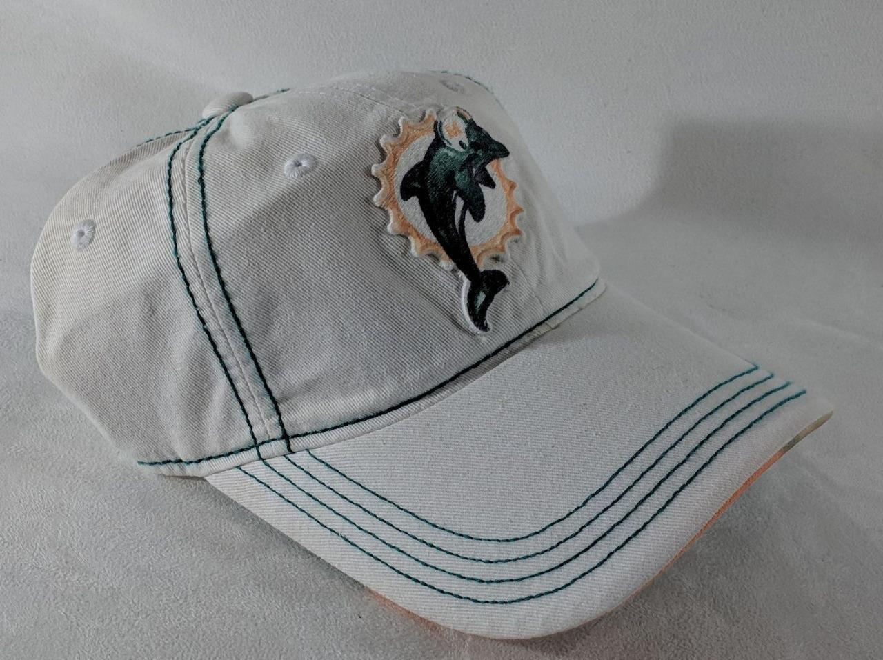 LZ NFL Team Apparel Adult One Size OSFA Miami Dolphins Baseball Hat Cap NEW i35