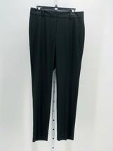 Ann Taylor Women's Black Straight Leg Dress Pants Size 8 Inseam 30 - $17.82