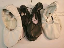 Ballet Shoes Size 7 1/2. American Theatre Lot Of 3. Black. White, zapato... - $31.67