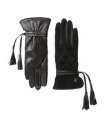 UGG Gloves Ophira Quilted Tassels Black Medium NEW - $94.05