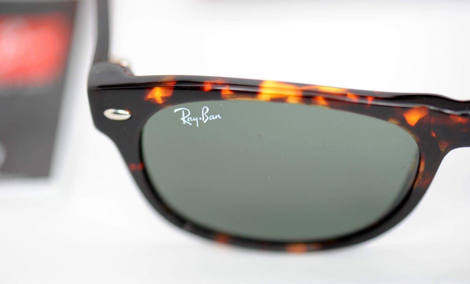 4ebb51622bd ... Ray-Ban New Wayfarer RB2132 902 52 Tortoise Frame   Green Classic G15  Sunglasses ...