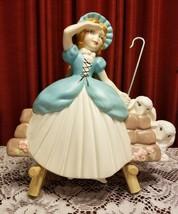 Vintage Mother Goose Little Bo Peep & Sheep Holland Mold ceramic Wall Ha... - $29.99