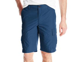$50 Dockers Men's Cargo Flat-Front Short, Estate Blue, Size 34. - $24.74
