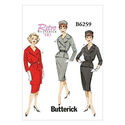Butterick Patterns B6259A50 Misses Jacket, Skirt and Belt, A5 (6-8-10-12-14) - $14.70