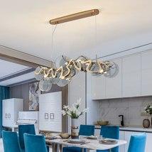 Creative Luxury Brushed Gold-Bronze Kitchen Island LED Hanging Lighting ... - $1,749.00