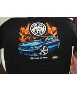 Super Bee muscle classic car by Dodge - w/flames on a Black XXXL tee shi... - $24.00