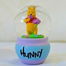 Disney Winnie The Pooh Mini Snowglobe Hunny Pot Spring Flowers - $12.99