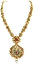 Multi Color Indian Traditional Gold Plated Fashion Temple Jewelry Necklace Set image 2