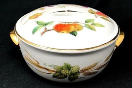 "Royal Worcester Evesham Gold, Lidded Casserole, Small, Made In England 6""D - $40.49"