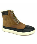 """Timberland Men's 6"""" Warm Lined Medium Brown Leather Snow Boots A1Z47 - $124.99"""