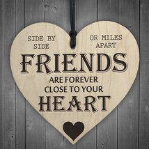 Friends Are Forever Wooden Hanging Heart Friendship Gift Shabby Chic Pla... - $11.99