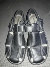 SKECHERS Mens Black Fisherman CLOSED Toe Leather Sandals Size 10 - $19.79